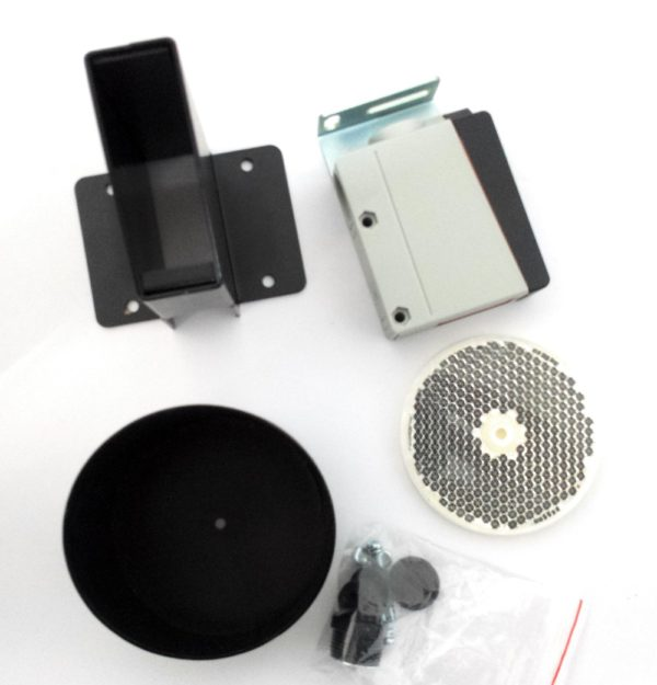 Kit fotocélula de reflexion con espejo y protecciones metal