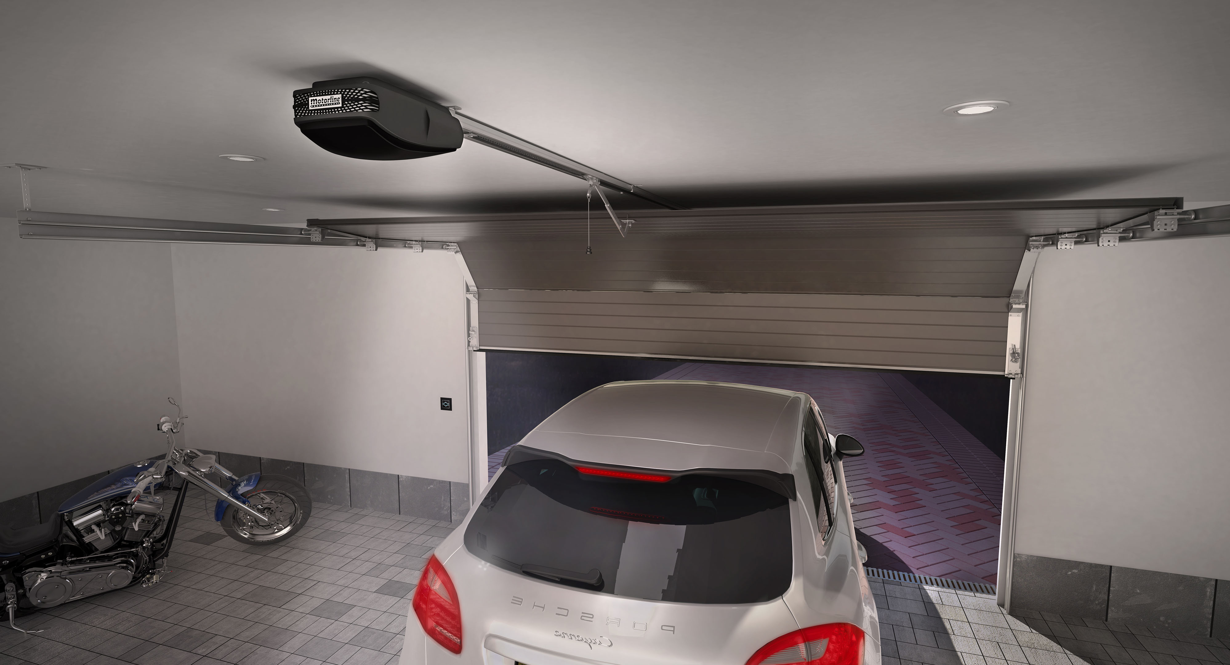 Motorline rosso evo 120 kit puerta seccional instalmatic - Motor puerta garaje seccional ...