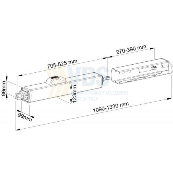 Motor hidráulico puerta batiente VDS PH 270/390