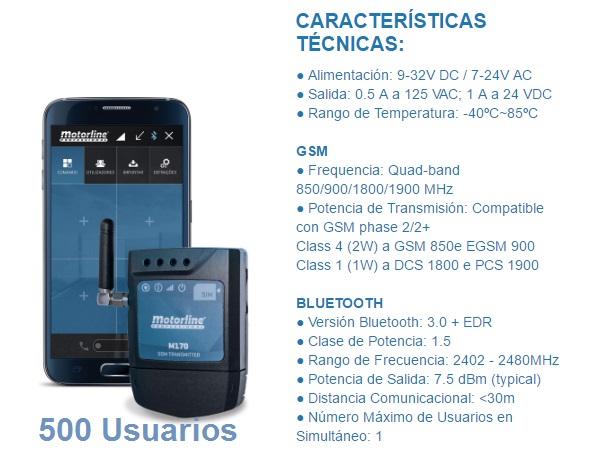 Motorline M170 Módulo GSM/Bluetooth abrir puerta garaje con el móvil