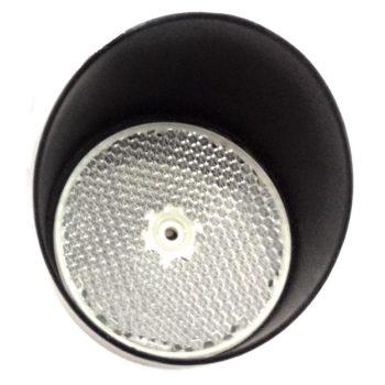 Visera protección metal espejo reflector fotocélula