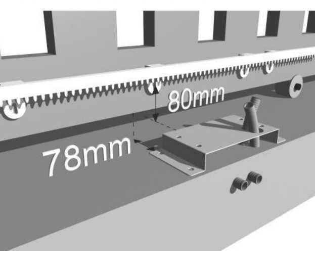 Kit cremallera 6 m 6 metros universal puerta corredera nylon pl/ástico